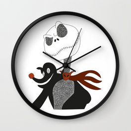jack skeleton Wall Clock