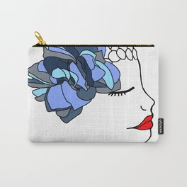 Blue Rose Headpiece Carry-All Pouch