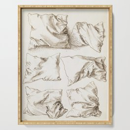 Six Studies of Pillows by Albrecht Durer, 1493 Serving Tray