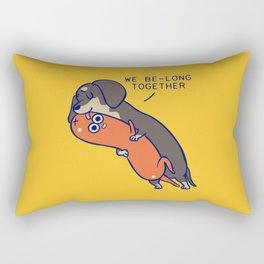We belong together dachshund Rectangular Pillow