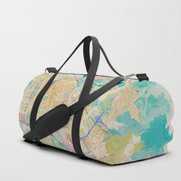Amsterdam in Watercolor Duffle Bag