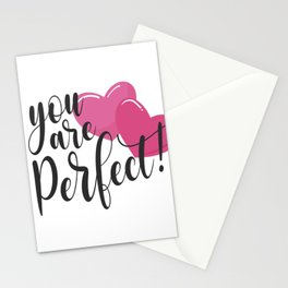 You Are Perfect Romantic Inspiring Valentine's Day Quote Stationery Cards