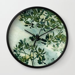 Wallpaper Foliage Wall Clock