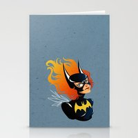 batgirl Stationery Cards featuring Batgirl by Станислава Коробкова