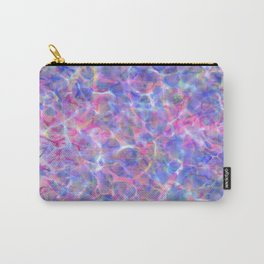 Abstract girly pink blue watercolor hand painted marble Carry-All Pouch
