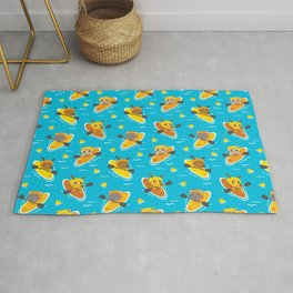 Cats and Dogs in Canoes Rug