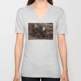 Oscar Wilde Lounging Portrait Unisex V-Neck