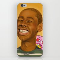 tyler the creator iPhone & iPod Skins featuring Tyler, The Creator by Karen Keller