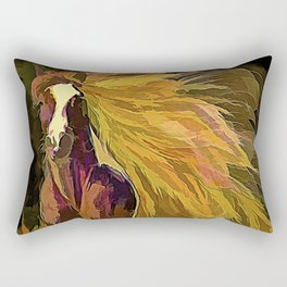 Running Horse Rectangular Pillow