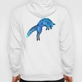 Space Fox | Fox Constellation | Leaping Fox | Double Exposure Fox Hoody