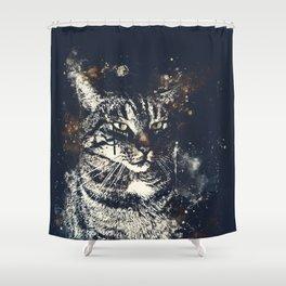 koko the cat wsfn Shower Curtain