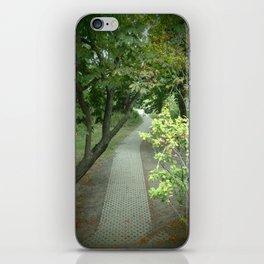 Pathway to the secret garden iPhone Skin