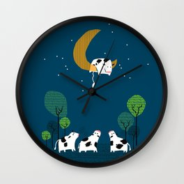 A cow jump over the moon Wall Clock