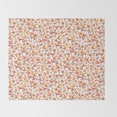 Fox Pattern Throw Blanket