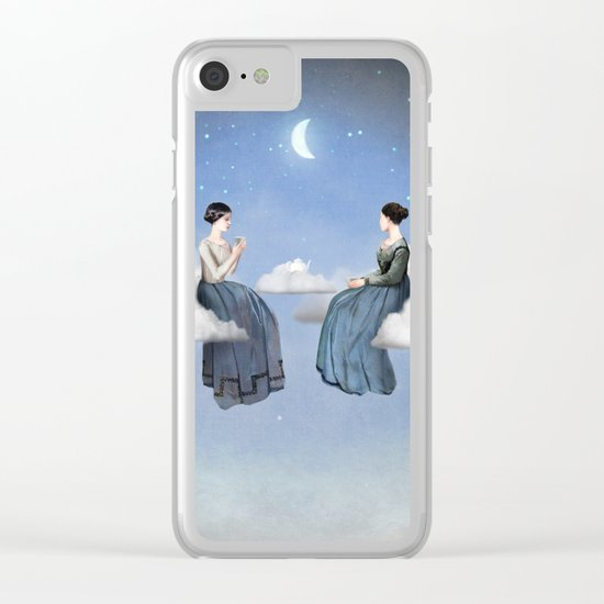 Wind, Clouds and Tea Clear iPhone Case