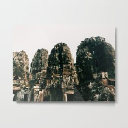 TRANSCENDENCE // The Bayon, Siem Reap, Cambodia Metal Print