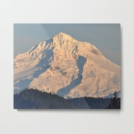 MT. HOOD - OREGON CASCADES - AT TWILIGHT Metal Print