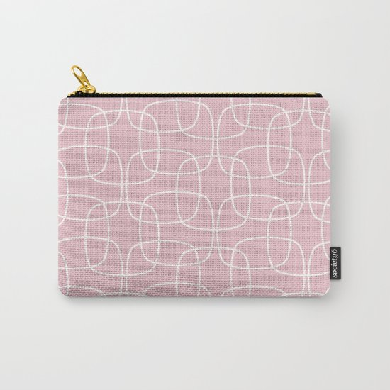 Square Pattern Pink Carry-All Pouch