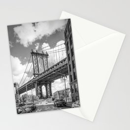 NEW YORK CITY Manhattan Bridge | Monochrome Stationery Cards