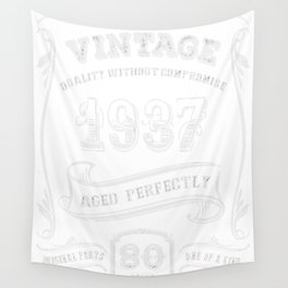 Vintage-1937---80th-Birthday-Gift-Idea Wall Tapestry
