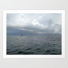 Storm, Ocean Buoy, Atlantic Art Print