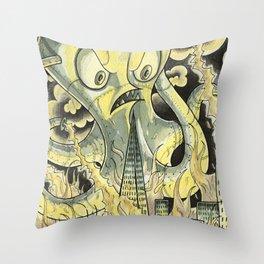 Steamechanical Octopus Throw Pillow