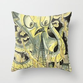 Steamechanical Octopus Throw Pillow