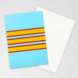 70s Style Retro Stripes Inanna Stationery Cards
