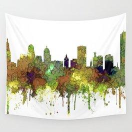 Buffalo, New York Skyline - SG Safari Buff Wall Tapestry