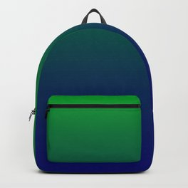 Green to Blue Gradient Backpack