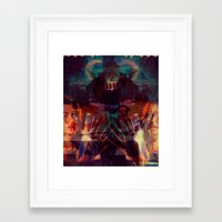 scary Framed Art Prints featuring Scary by WDeluxe
