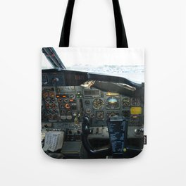 737 Airliner Cockpit Tote Bag