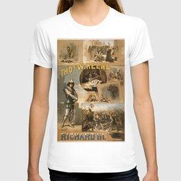 Vintage Richard III Theatre Poster T-shirt