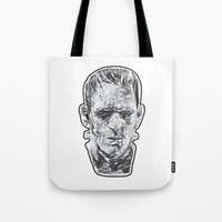 prometheus Tote Bags featuring The Fractured Prometheus by Rabassa