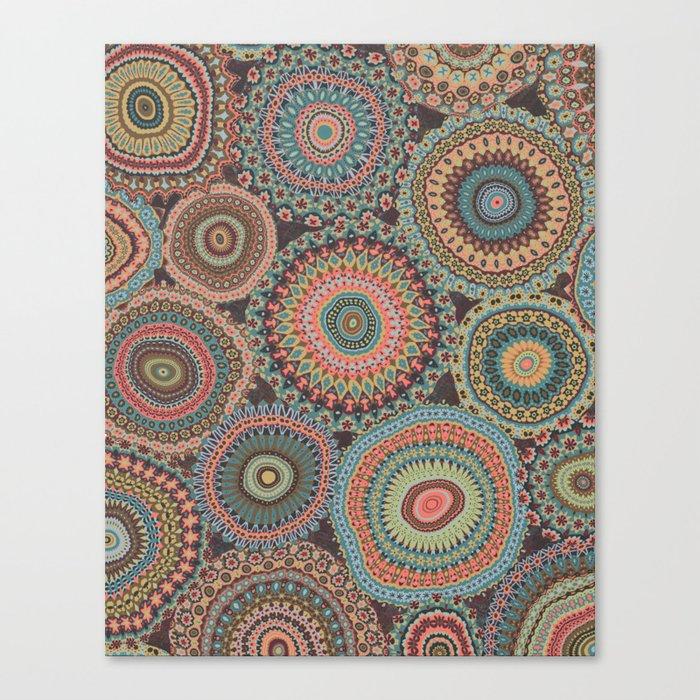 Boho Patchwork-Vintage colors Canvas Print