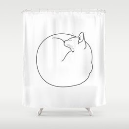 Fuzz Ball Shower Curtain