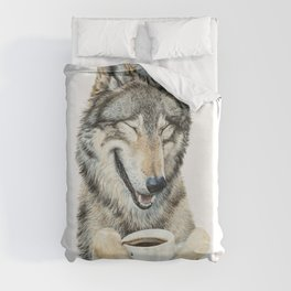 Coffee in the Moonlight Duvet Cover