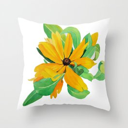 Sunshine Daisy Throw Pillow