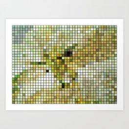 Pale Yellow Poinsettia 1 Mosaic Art Print