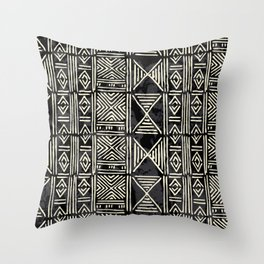 Tribal mud cloth pattern Throw Pillow