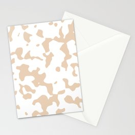 Large Spots - White and Pastel Brown Stationery Cards