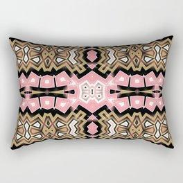 Geoplay : Pink Gold Tribal Rectangular Pillow