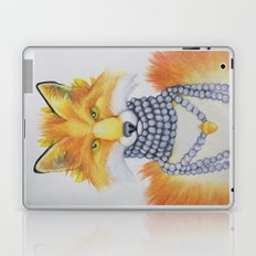 Fox Fur and Pearls Laptop & iPad Skin