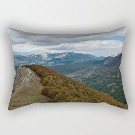 Abruzzo National Park from above Rectangular Pillow