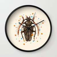 insect Wall Clocks featuring INSECT VIII by dogooder