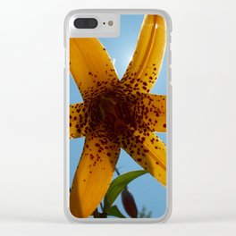 Tiger Lily Silhouette Clear iPhone Case