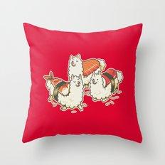 Alpaca Sushi Niguiri Throw Pillow