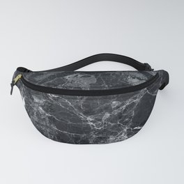 Black marble texture Fanny Pack