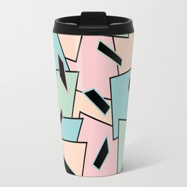 Funky Party Rainbow Colors Memphis 80's Design Pattern Travel Mug