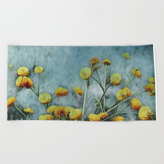 Summers Yellow Beach Towel